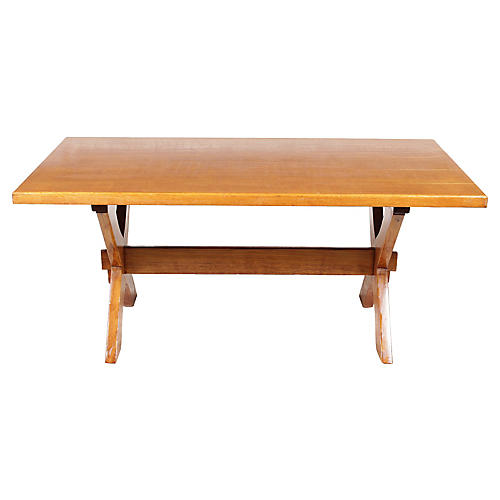 French Trestle Monastery-Style Table