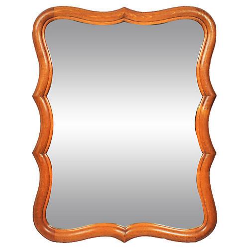 1960s French-Style Oak Mirror