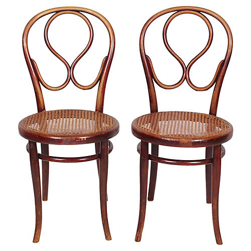1920s Thonet Bentwood Chairs, S/2