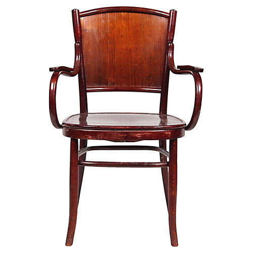 Antique Fischel Bentwood Armchair