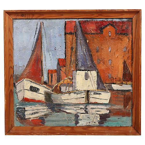 "Oil Painting 'Sails up in Copenhagen"""
