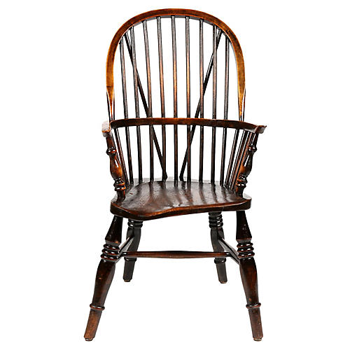 English Windsor Chair, C. 1870