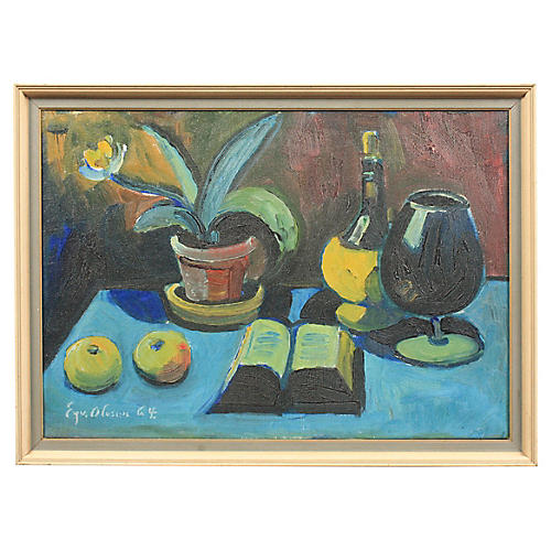 1964 Eyvind Olesen Still Life with Book