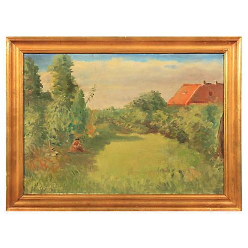 Hjalmar Kragh-Pedersen 1953 Landscape