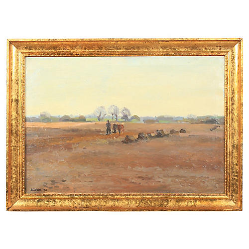 Impressionist Plowing Scene, 1943