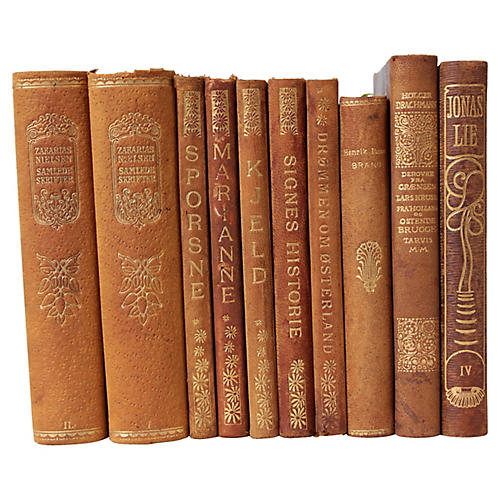 Art Nouveau Leather Bound Books S 10