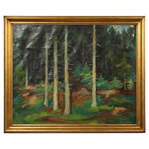 Forest Landscape by Hjalmar Nielsen