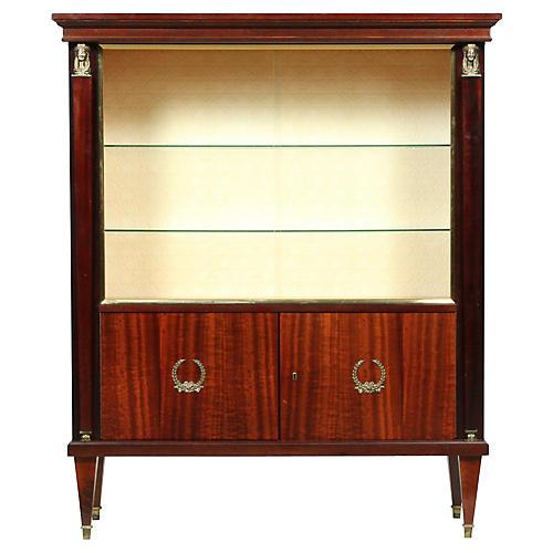 Empire Mahogany Vitrine/Display Cabinet