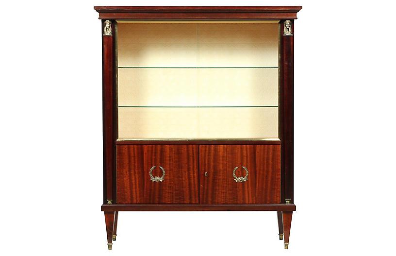 Empire Mahogany Vitrine Display Cabinet