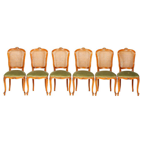 Louis XVI-Style Dining Room Chairs, S/6