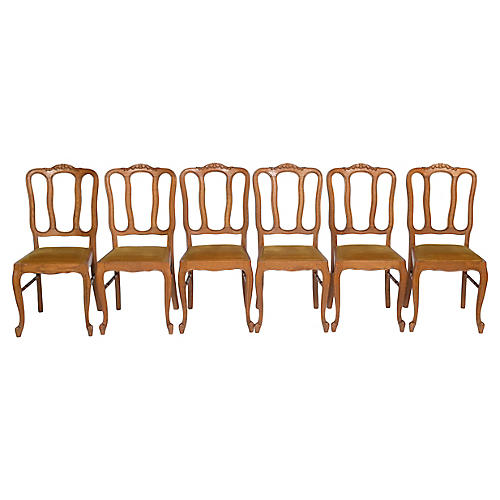 Louis XV Dining Chairs, S/6