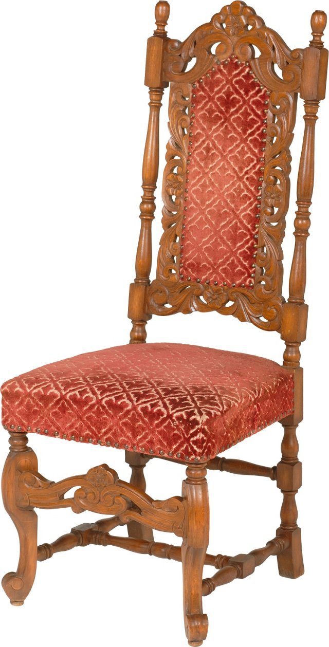 19th-C. Oak Side Chair