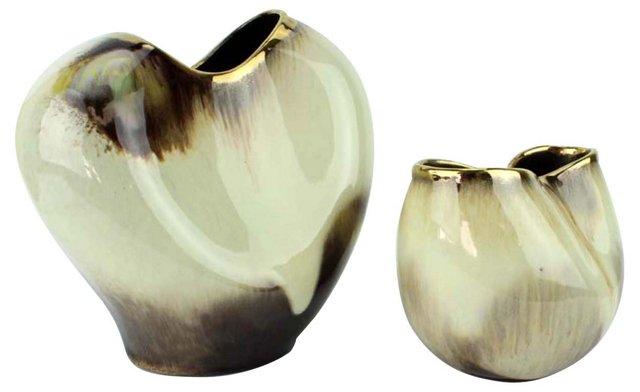 German Drip-Glaze Vases