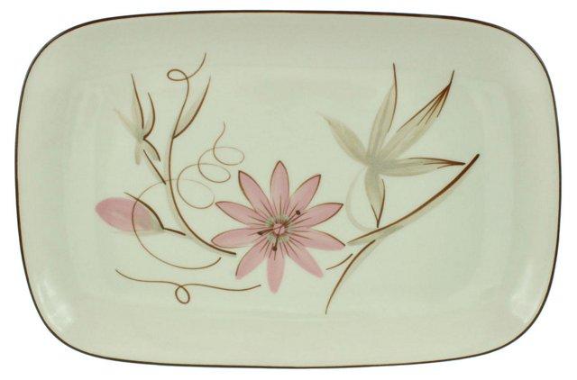 Midcentury Passionflower Platter