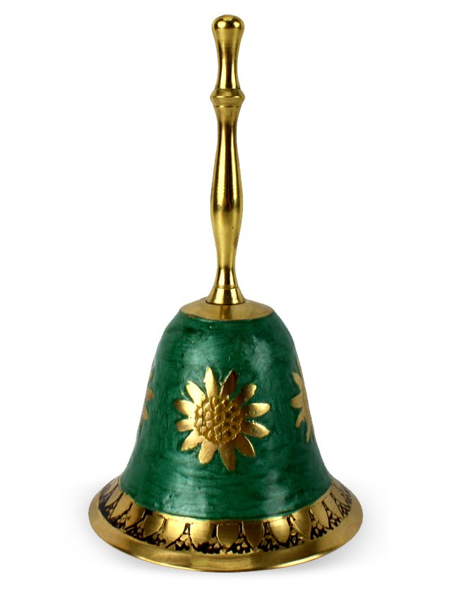 Enamel & Brass Sunflower Bell