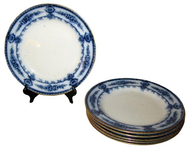 English Cauldon  Plates, Set of 6