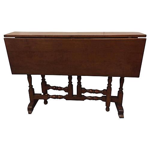 Antique English Drop-Leaf Gateleg Table
