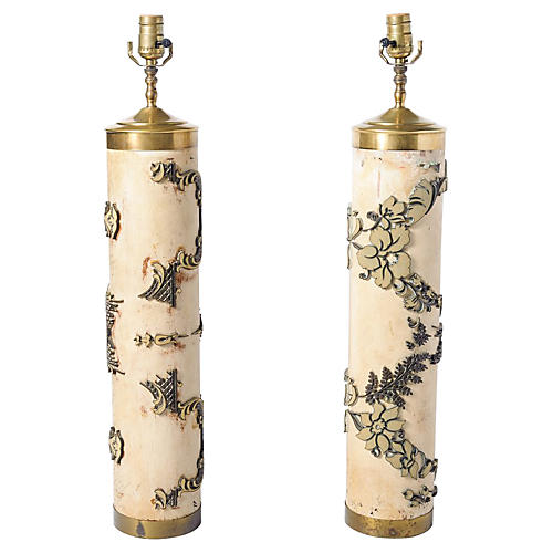 Cylinder Wallpaper Lamps, S/2