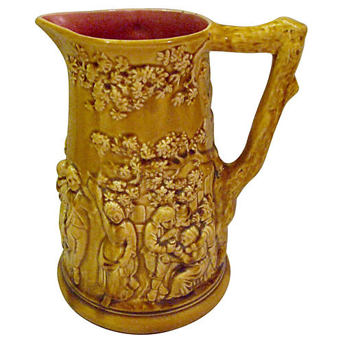 Majolica Pitcher Sarreguemines 1834-1890