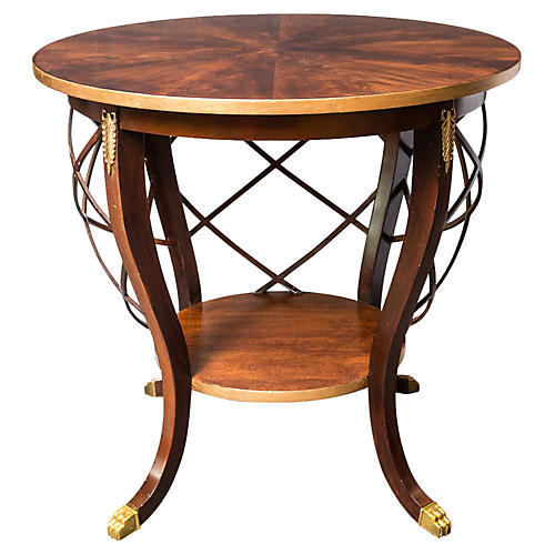 Regency-Style 2-Tier Cage Center Table