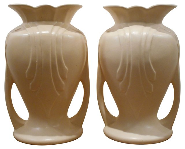 Granada Art Pottery Vases, Pair