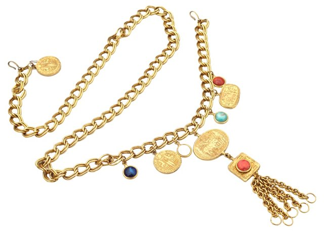 Egyptian Revival Chain Belt/Necklace