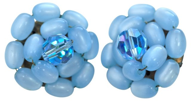 Blue Moonglow Earrings