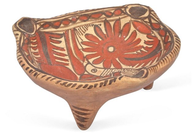 Mexican Ceramic Painted Bowl