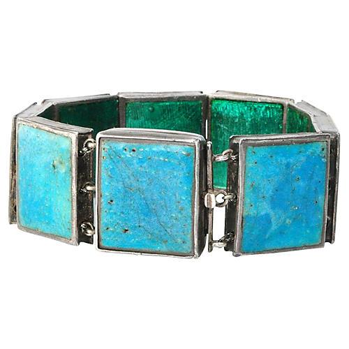 Reversible Sterling & Enamel Bracelet