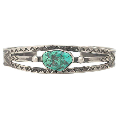 Turquoise Sharp Tooth Cuff