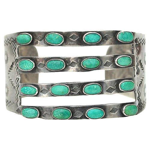 Four Band Turquoise Cuff