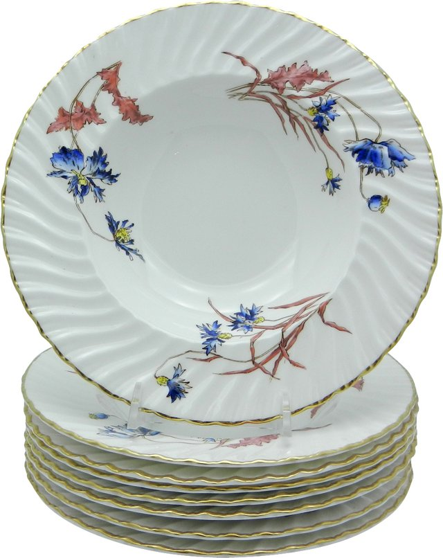 Royal Worcester Soup Bowls, Set of 8