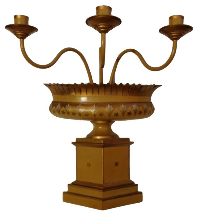 French Tole Candleabra