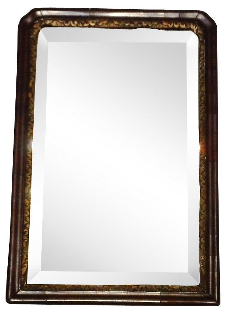 18th-C. Small Mahogany Mirror