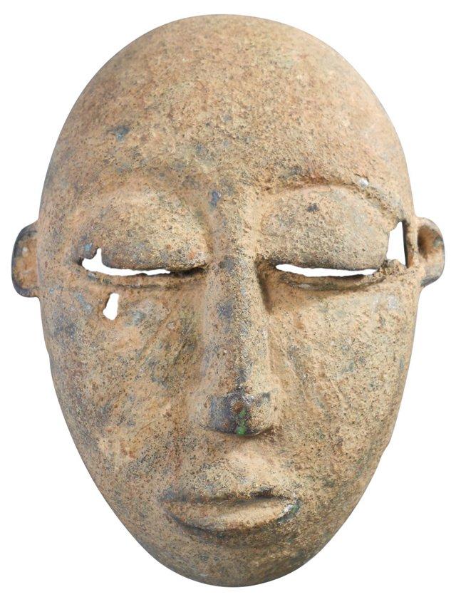 Mayan Bronze Mask