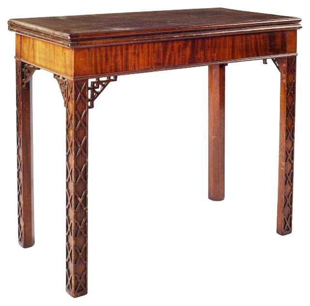 18th-C. Chippendale Card Table