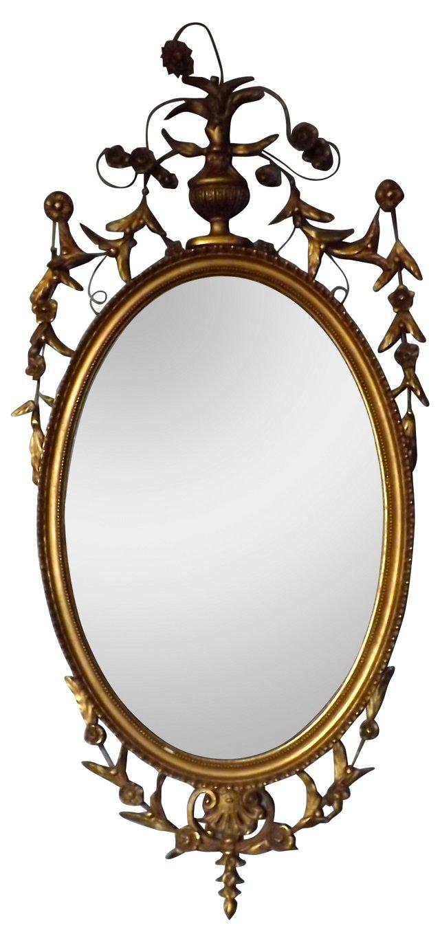 French Louis XV Gilt Mirror