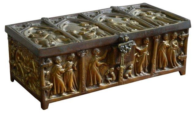Gothic Bronze Jewelry Casket