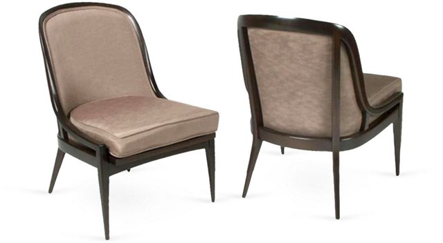 Baker Side Chairs, Pair