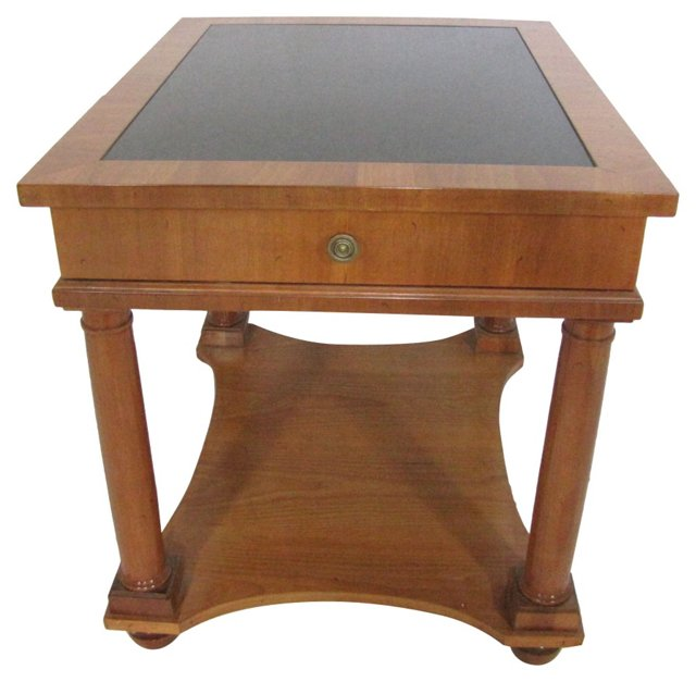 Granite Topped Beech Wood Table