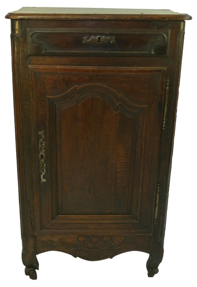 18th-C. French Demi Armoire