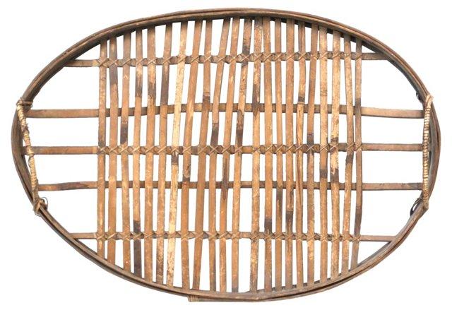 Antique Slat Wood Tray