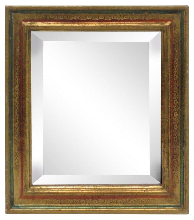 Green & Gold Florentine Mirror