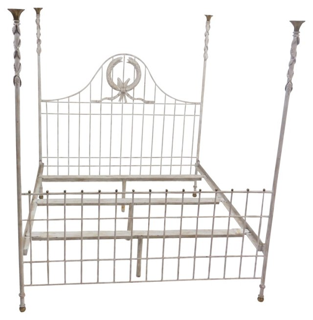 Acanthus Leaf Iron Bed, King