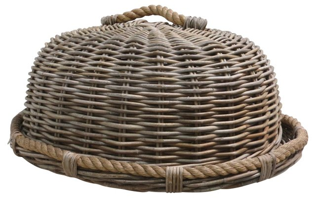 Covered  Woven Dome & Tray
