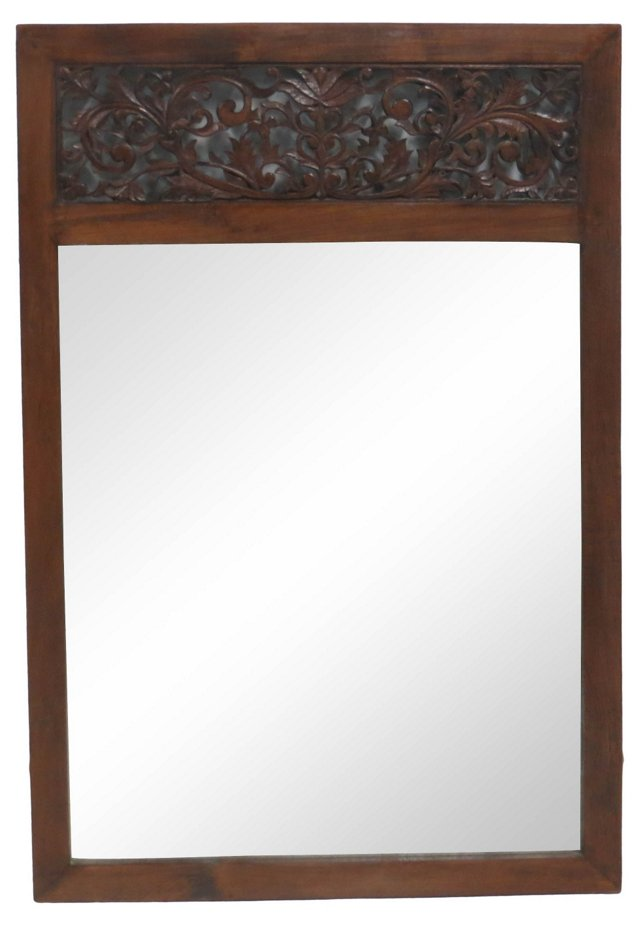 Hand-Carved Indonesian Mirror