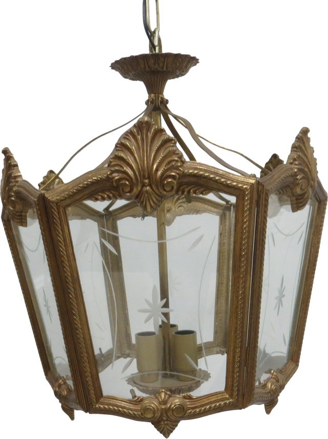 Brass Lantern Chandelier