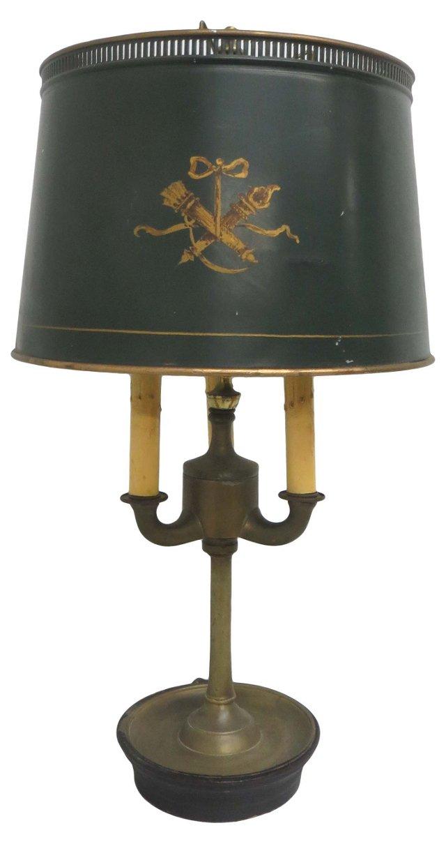 Green Tole Boulliotte Lamp