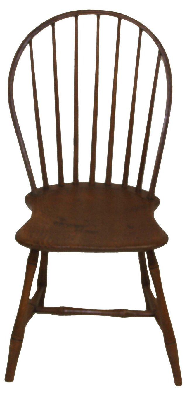 19th-C. Bow-Backed Windsor Chair