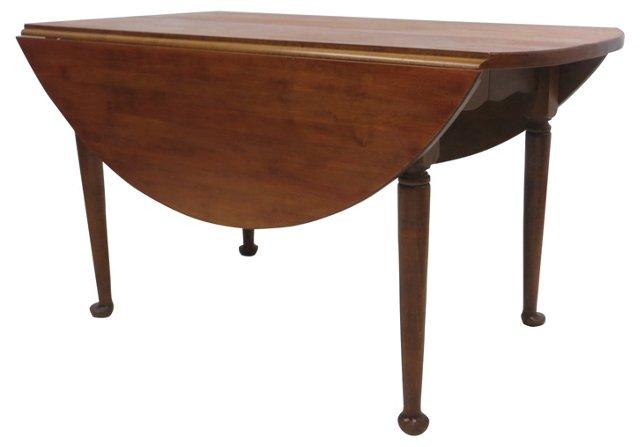 Round 19th-C. Drop-Leaf Table